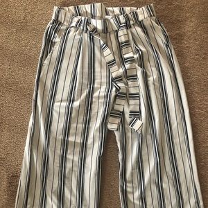 Pants - blue and white striped pants